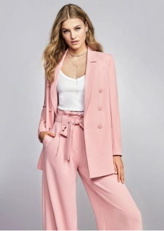 Wide Leg Pink Trousers