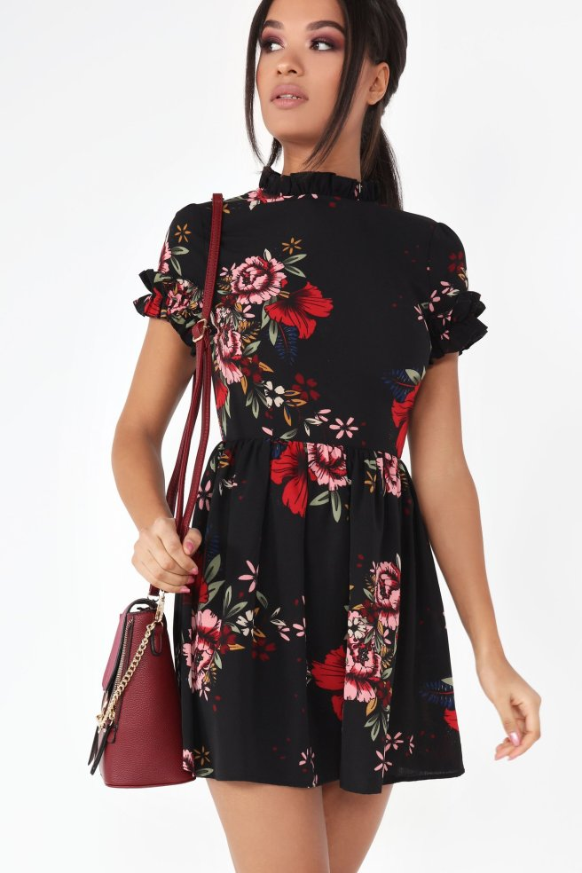 bastet-black-floral-frill-sleeve-dress-3_2048x2048